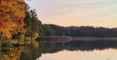 Plaża jezioro Trzechowskie