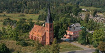 Kościół Ewangelicki - ruiny w Pogódkach